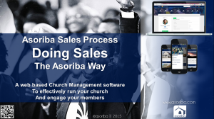 doing sales the Asoriba way