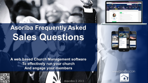 Frequently Asked Questions by Churches and Leaders
